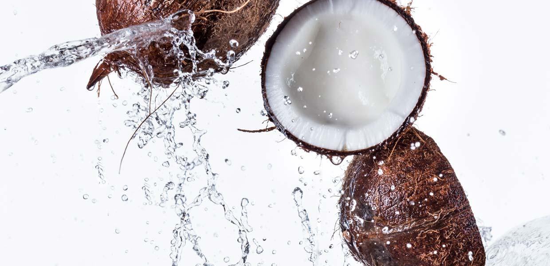 Gel antibacterial con agua de coco